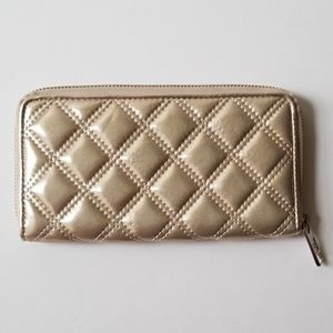 Marc Jacob's Gold Quilted Wallet